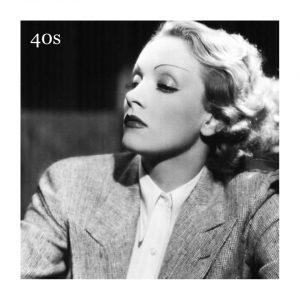 Marlene Dietrich. Camina la delgada línea entre las cejas de los 30 y los 40.